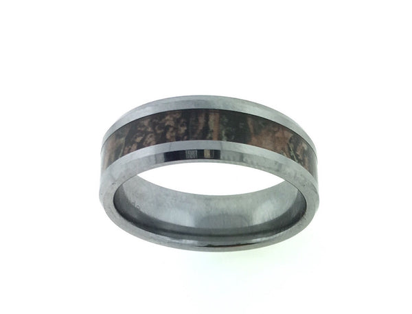 8MM True Country Tungsten Camo Ring