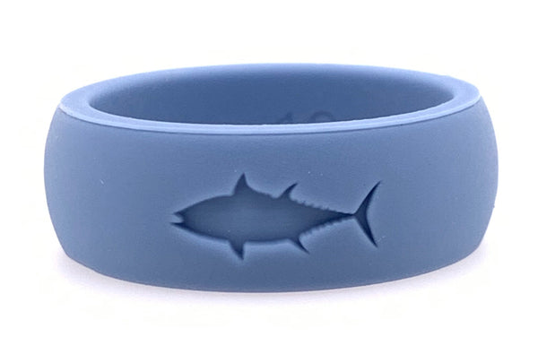 Gray Light Silicone Tuna Ring