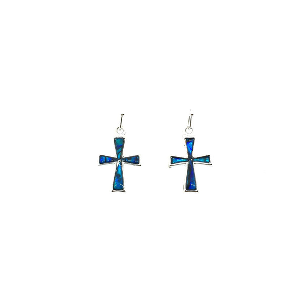 Abalone Shell Cross Earrings