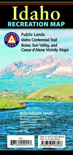 Benchmark Idaho Recreation Map