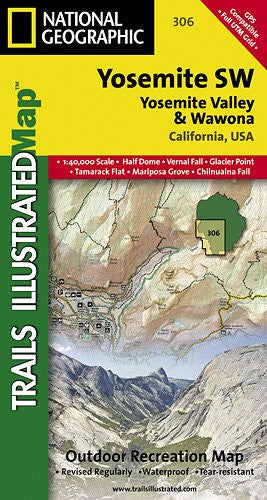 TI Map #306- Yosemite Southwest- Yosemite Valley & Wawona
