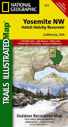 TI Map #307- Yosemite Northwest- Hetch Hetchy Reservoir