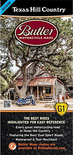 Texas Hill Country Motorcycle Map