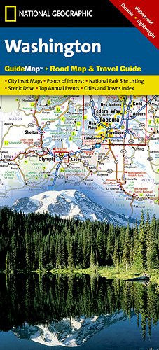 National Geographic Washington State Guide Map