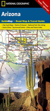 National Geographic Arizona State Guide Map