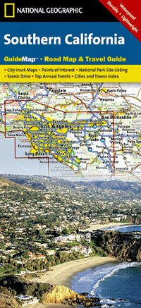 National Geographic Southern California State Guide Map