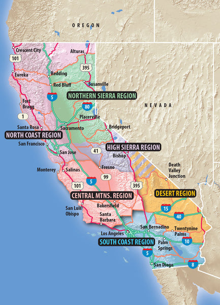 California Trails South Coast Region (Spiral Binding)