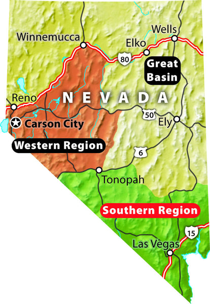 Nevada Trails Southern Region (Spiral Binding)