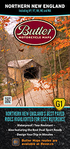 Northern New England Motorcycle Map