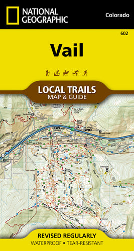 602-Vail Local Trails Map & Guide