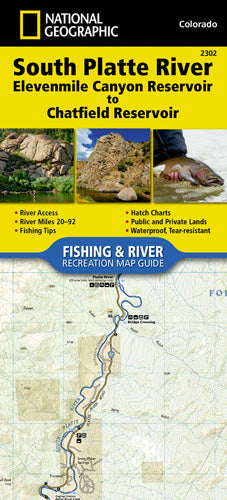 2302-South Platte River Fishing & River Recreation Map Guide