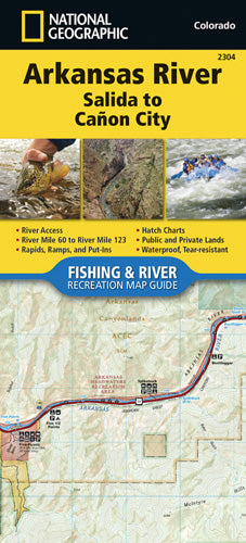2304-Arkansas River Fishing & River Recreation Map Guide