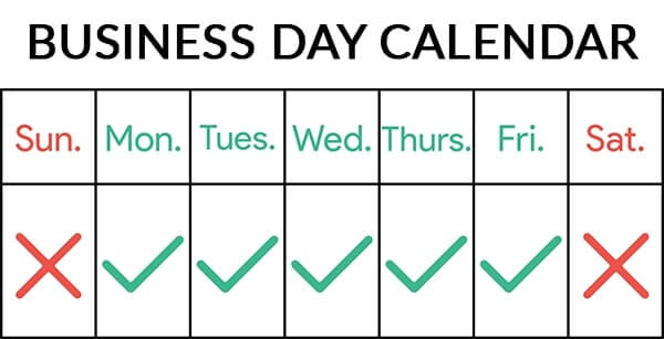paper sunday business days shipping & delivery calendar