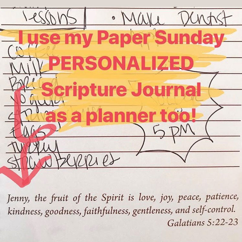 Paper Sunday | Personalized Scripture Journals