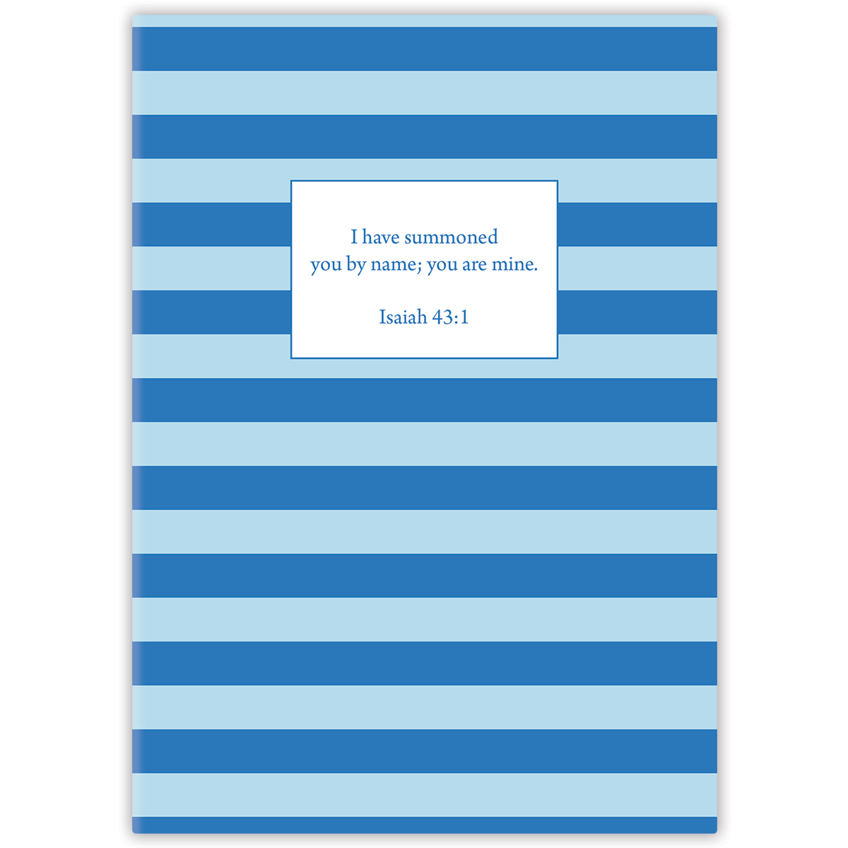 Mini Blue Stripe (Boy's) Journal Mini Paper Sunday LLC