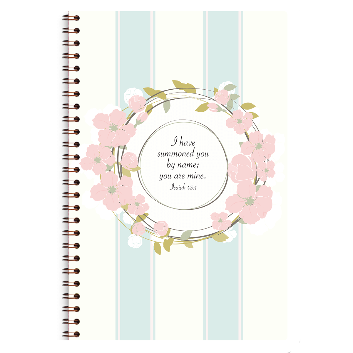 Floral Wreath Journal Paper Sunday