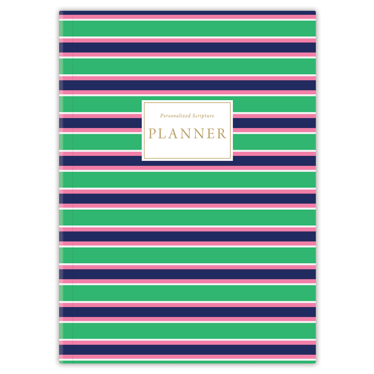 Green Stripes (Planner) Planner Paper Sunday No Softback
