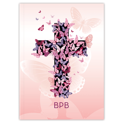 Pink Butterfly Cross (Planner) Planner Paper Sunday