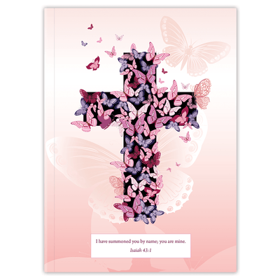 Pink Butterfly Cross (Planner) Planner Paper Sunday No Softback