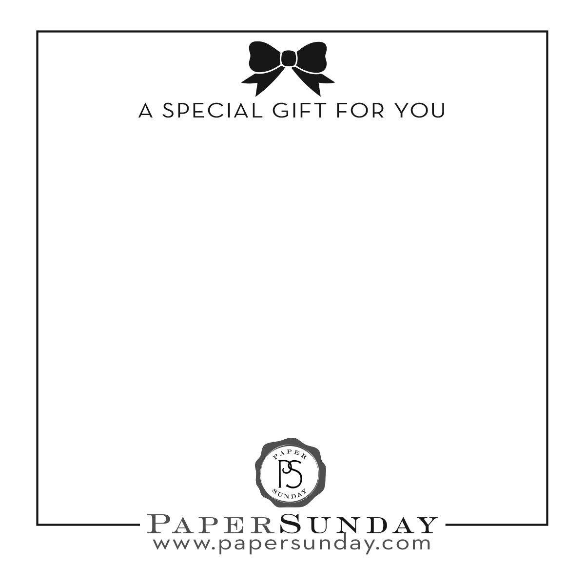 Gift Note custom_option Paper Sunday