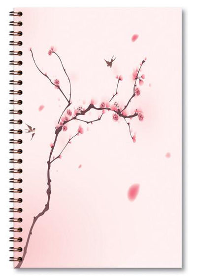 paper-sunday-Cherry Blossom with Bird-christian-personalized-scripture-Journal-bible-verses-about-love-faith-hope