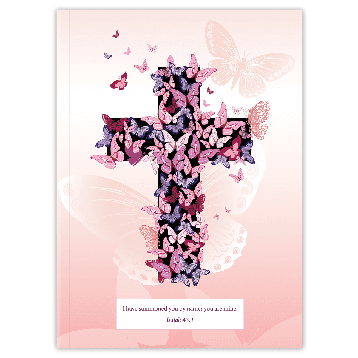 Pink Butterfly Cross