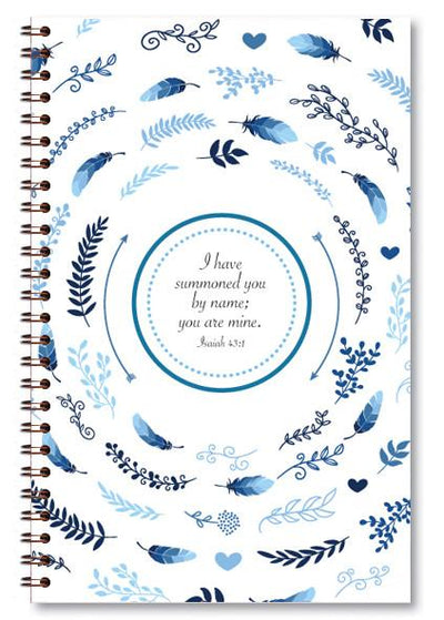 paper-sunday-Blue Wreath-christian-personalized-scripture-Journal-bible-verses-about-love-faith-hope