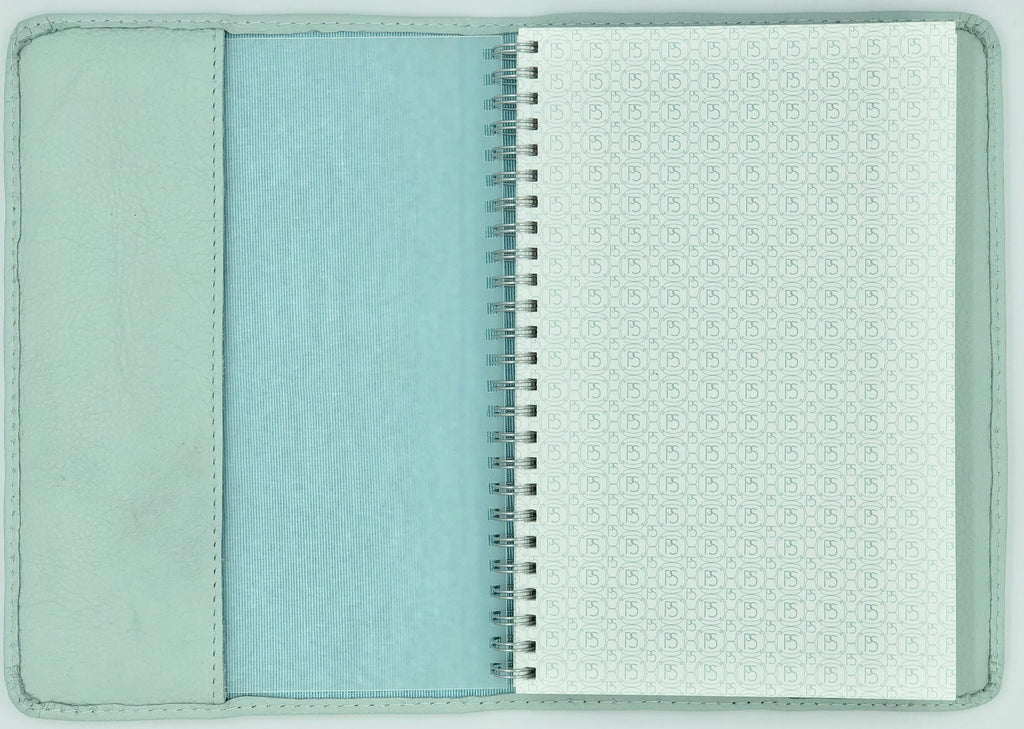 Leather Journal: Powder Blue