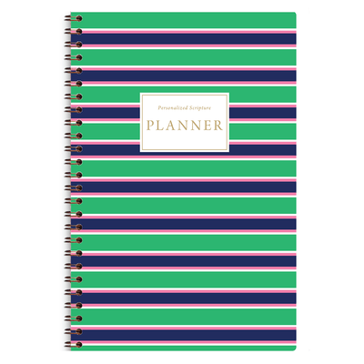 Green Stripes (Planner) Planner Paper Sunday No Wire Coil