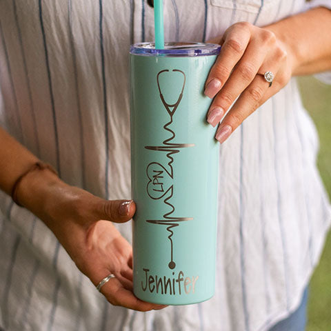 Personalized nurse tumbler