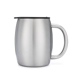Stainless Steel 14 oz. Double Walled Insulated Coffee Beer Tea Mugs with Lids