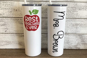 Personalized Teacher 20 oz Tumbler - Vinyl Decal