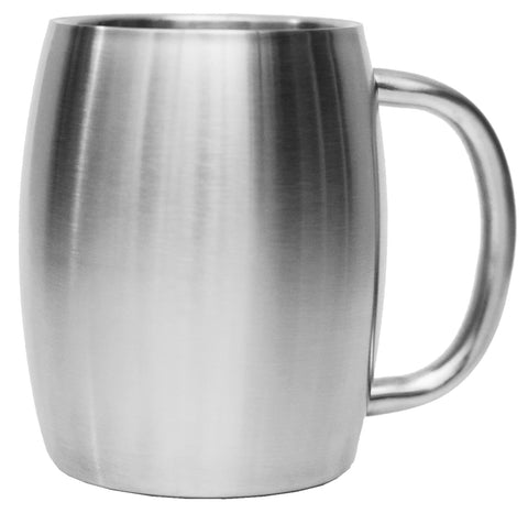 Stainless Steel 14 oz. Double Walled Insulated Coffee Beer Tea Mug