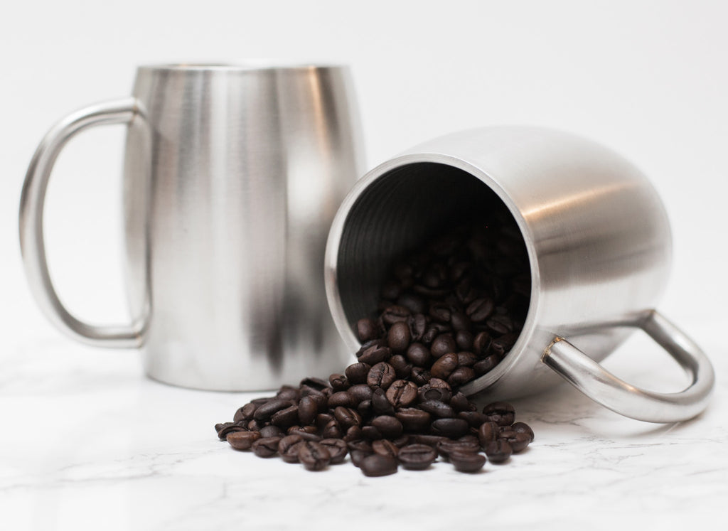 Stainless Steel 14 Oz Double Walled Insulated Coffee Beer