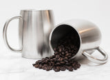 Stainless Steel 14 oz. Double Walled Insulated Coffee Beer Tea Mugs - Set of 2