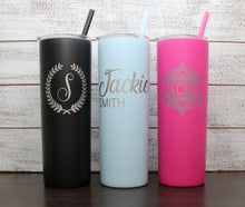 Load image into Gallery viewer, Personalized 20 oz Stainless Steel Vacuum Insulated Tumbler with Monogram