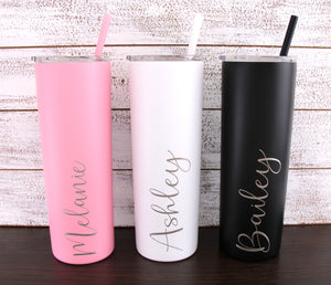 Personalized Laser Engraved 20 oz Stainless Steel Vacuum Insulated Tumbler
