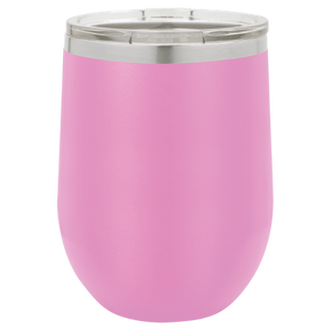 Personalized Laser Engraved 12 oz - Vacuum Insulated- Wine Tumbler with Monogram