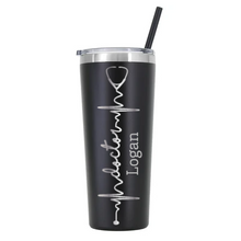 Load image into Gallery viewer, Personalized Nurse Stethoscope Design on 20 oz Tumbler - Vinyl Decal