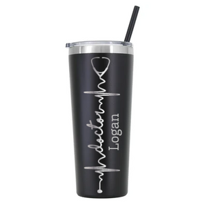 Personalized Doctor Stethoscope Design on 22 oz Tumbler - Laser Engraved