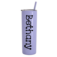 Load image into Gallery viewer, Personalized Vinyl Decal 20 oz Stainless Steel Vacuum Insulated Tumbler