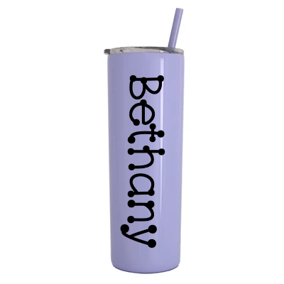Personalized Vinyl Decal 20 oz Stainless Steel Vacuum Insulated Tumbler