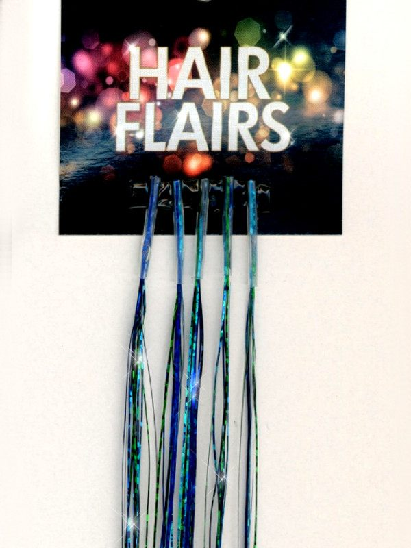 Clear Tip Tinsel - Aquamarine Clear Tip Tinsel Extensions