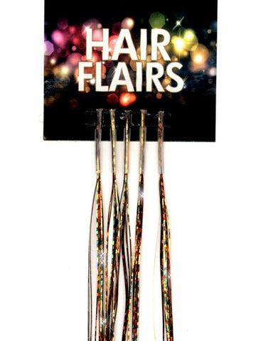 Clear Tip Tinsel - Dark Metallics Clear Tip Tinsel Extensions