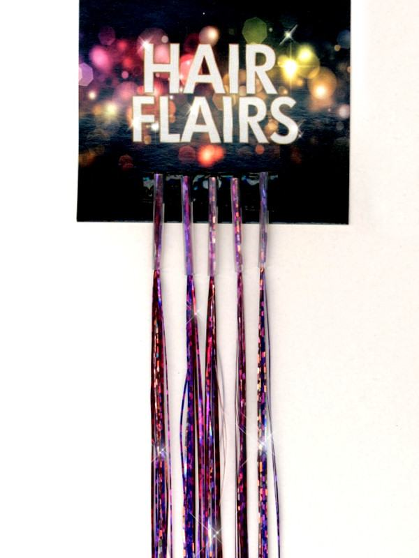 Clear Tip Tinsel - Magenta Rose Clear Tip Tinsel Extensions
