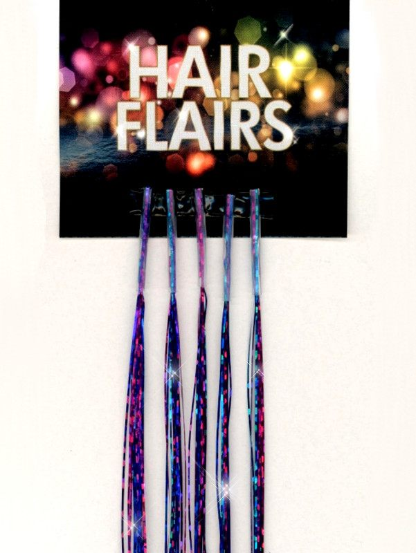 Clear Tip Tinsel - Violet Indigo Clear Tip Tinsel Extensions