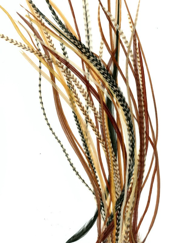 Feather Extensions - Natural Variants Mix - Feather Extensions