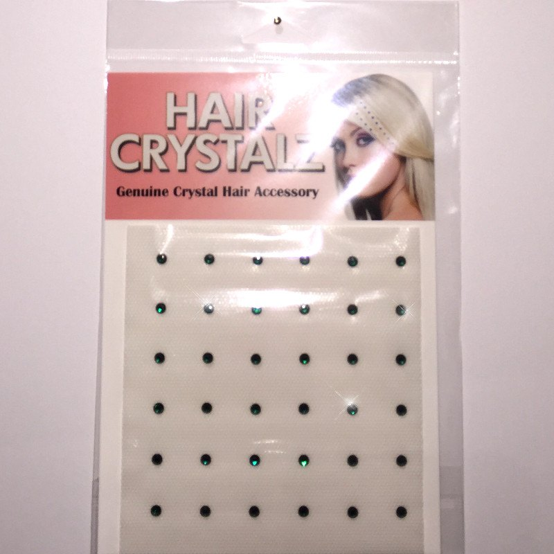 Hair Crystalz - Emerald Green Hair Crystalz