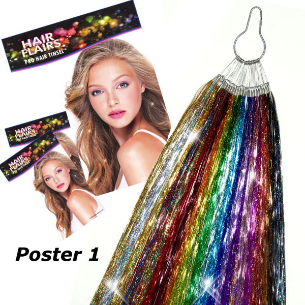 Pro Hair Tinsel - 22 Color Pro Stylist Hair Tinsel Kit On Ring