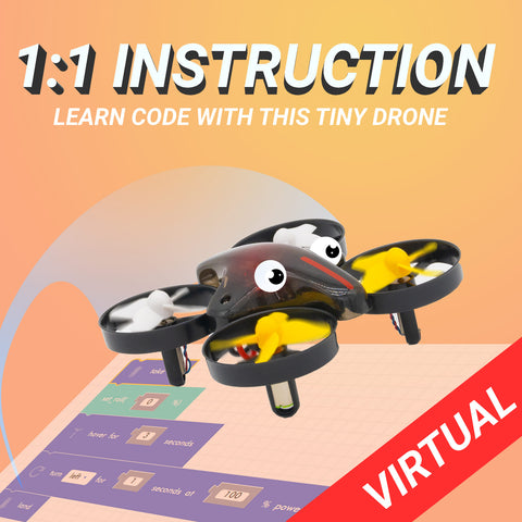 1-on-1 Class: Drone Programming w/ CoDrone Mini - Blockly